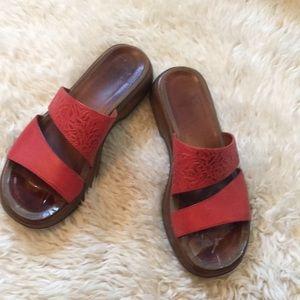 Red Dansko sandals
